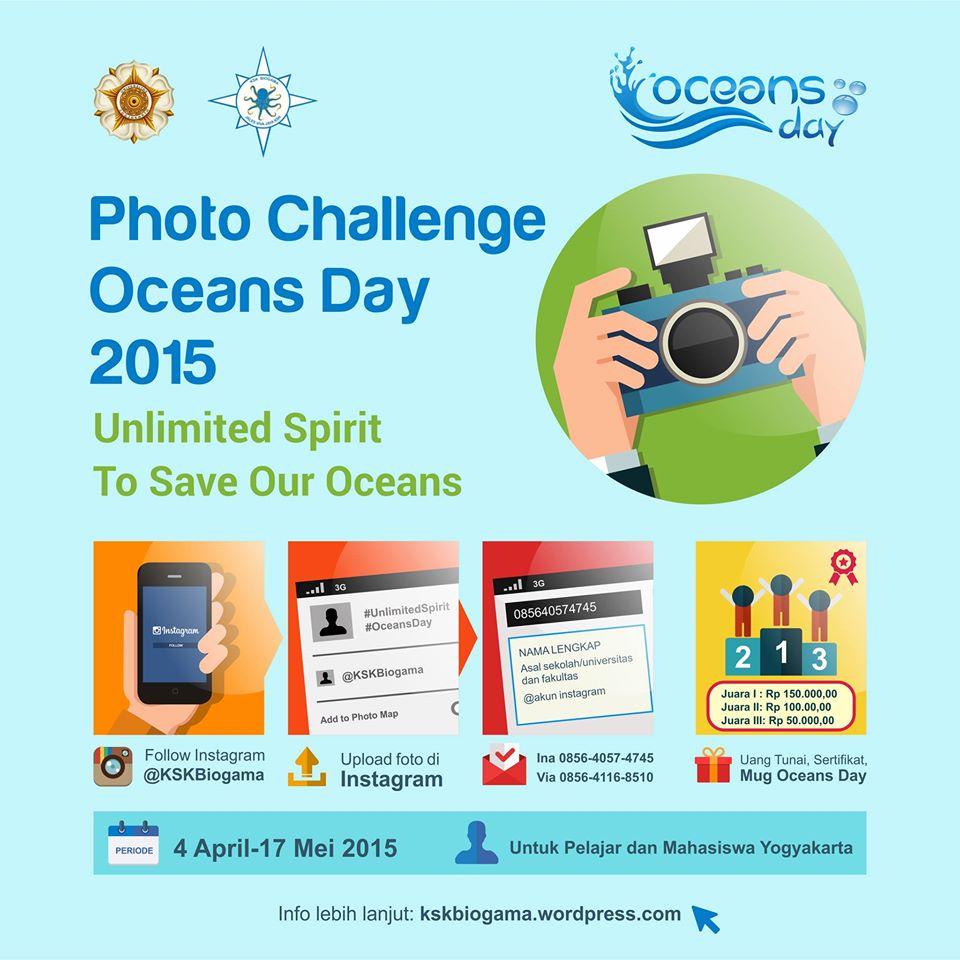 KSK Biogama Oceans Day 2015: PHOTO CHALLENGE! Apa Kabar Lautku?