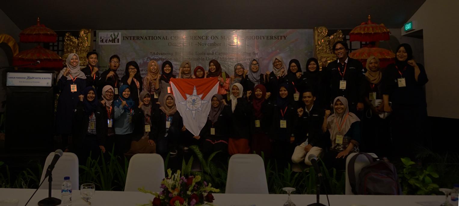 KSK Biogama Meraih Student Abstract and Presentation Award di International Conference on Marine Biodiversity (CoMBI 2016), Bali