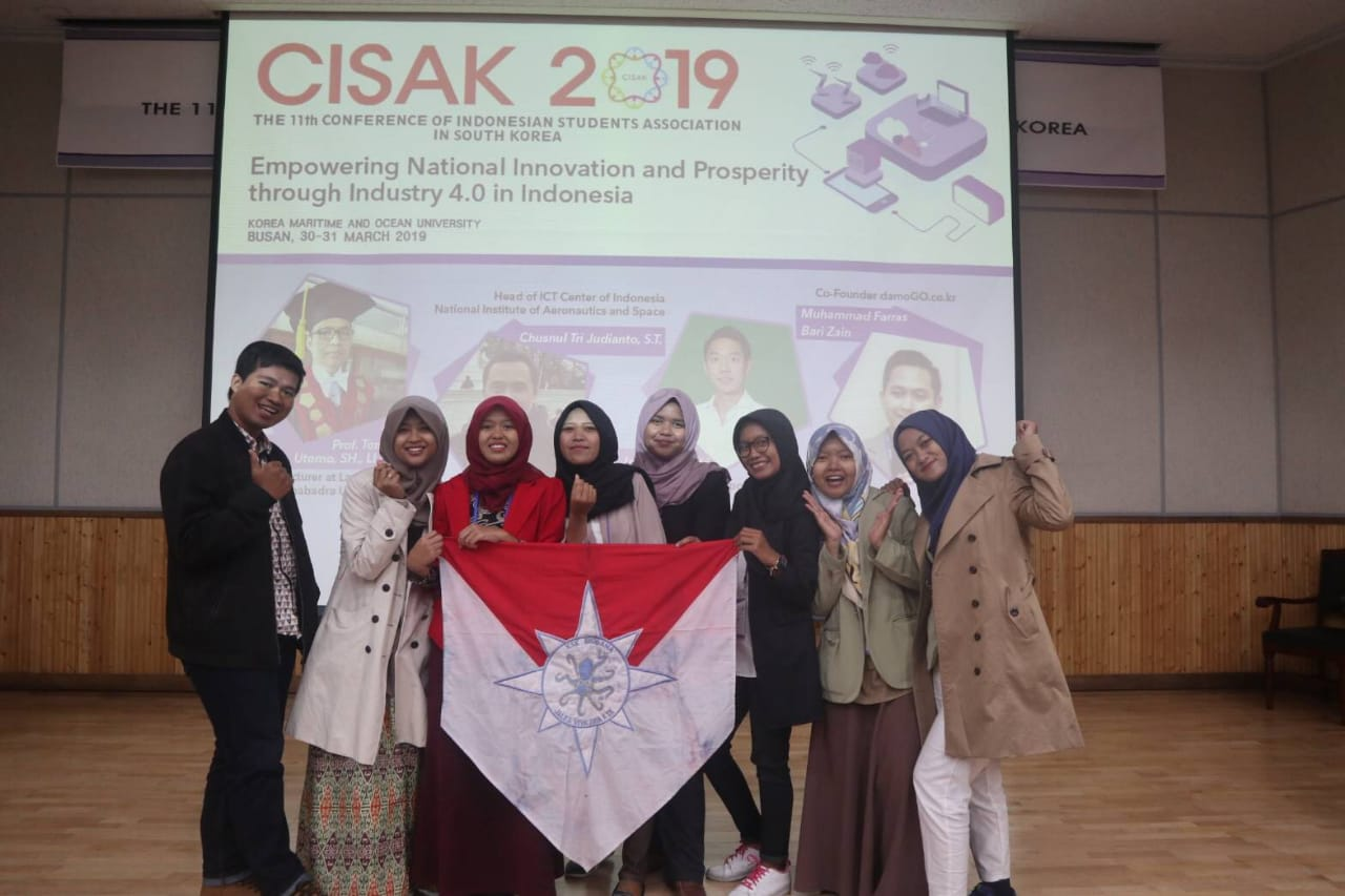 Publikasi Penelitian KSK Biogama pada The 11th Conference of Indonesian Students Association in South Korea (CISAK) 2019 di Korea Maritime and Ocean University, Busan, Korea Selatan.